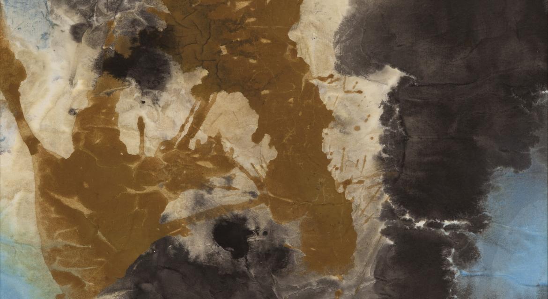 Park In-kyung, Lumière à Sainte-Enimie, 1962, encre et couleurs sur papier, 135,5 x 69,5cm, collection particulière
