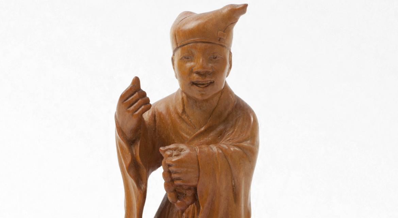 """Yan Dehui (né en 1915). """"Jigong"""". Buis. XXe s. Paris, musée Cernuschi."""