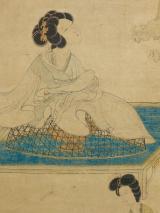 Femme parfumant ses manches sur un brûle-parfum