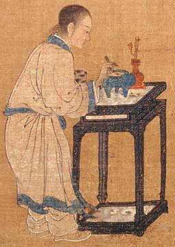 Les dix-huit livrés (Détail), Anonyme, encres et couleurs sur soie, 134,2x76,6, Dynastie des Ming (XIVe-XVIIe s. ap. JC), musée de Shanghai © Musée de Shanghai