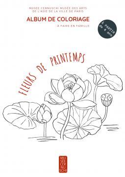 album de coloriage fleurs de printemps à faire à la maison