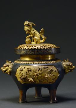 Brûle-parfum ajouré, bronze doré, Dynastie des Qing (XIIe-XXe s ap. JC), musée de Sanghai © Musée de Shanghai