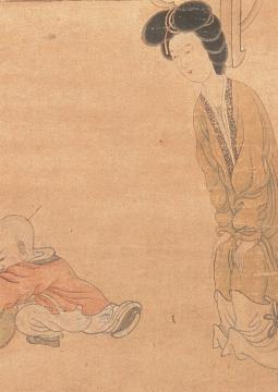 Femme parfumant ses manches (Détail), Chen Hongshou, encre et couleurs sur soie, Dynastie des Ming (XIVe S. - XVIIe s. ap. JC), musée de Shanghai © Musée de Shanghai