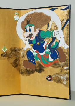 Mario and Luigi Rimpa Screen © Nintendo, Taro YAMAMOTO, 2015