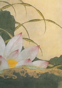 Yun Shouping Lotus scintillant dans l'étang