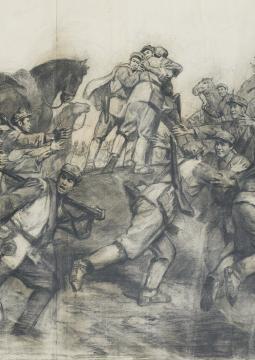 Esquisse Cai Liang La Chine en révolution